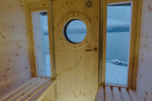 Two large windows and old porthole gives you an amazing panorama view.